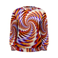 Woven Colorful Waves Women s Sweatshirt