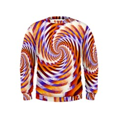 Woven Colorful Waves Kids  Sweatshirt