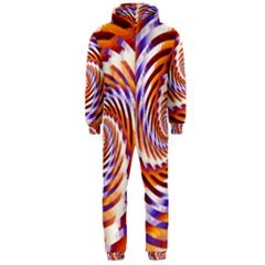 Woven Colorful Waves Hooded Jumpsuit (men)