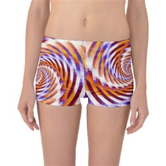 Woven Colorful Waves Boyleg Bikini Bottoms