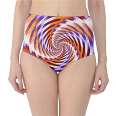 Woven Colorful Waves High Waist Bikini Bottoms