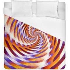 Woven Colorful Waves Duvet Cover (king Size)