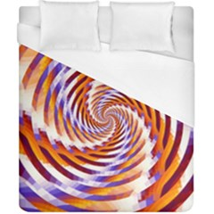 Woven Colorful Waves Duvet Cover (california King Size)