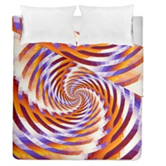 Woven Colorful Waves Duvet Cover Double Side (queen Size)