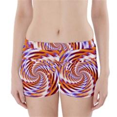 Woven Colorful Waves Boyleg Bikini Wrap Bottoms