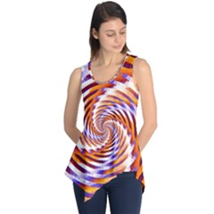 Woven Colorful Waves Sleeveless Tunic