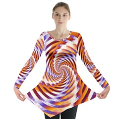 Woven Colorful Waves Long Sleeve Tunic