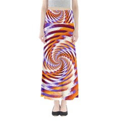 Woven Colorful Waves Full Length Maxi Skirt