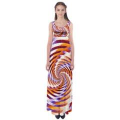 Woven Colorful Waves Empire Waist Maxi Dress