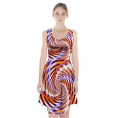 Woven Colorful Waves Racerback Midi Dress