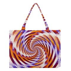 Woven Colorful Waves Medium Tote Bag