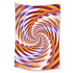 Woven Colorful Waves Large Tapestry