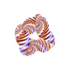 Woven Colorful Waves Velvet Scrunchie