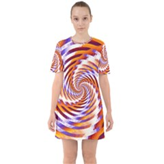 Woven Colorful Waves Mini Dress