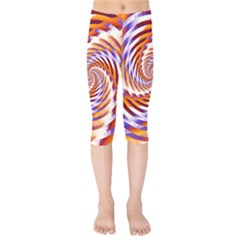 Woven Colorful Waves Kids  Capri Leggings