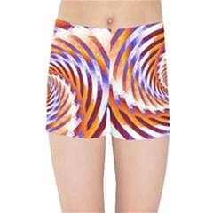 Woven Colorful Waves Kids Sports Shorts