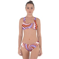 Woven Colorful Waves Criss Cross Bikini Set