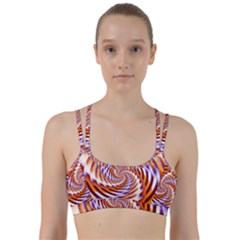 Woven Colorful Waves Line Them Up Sports Bra