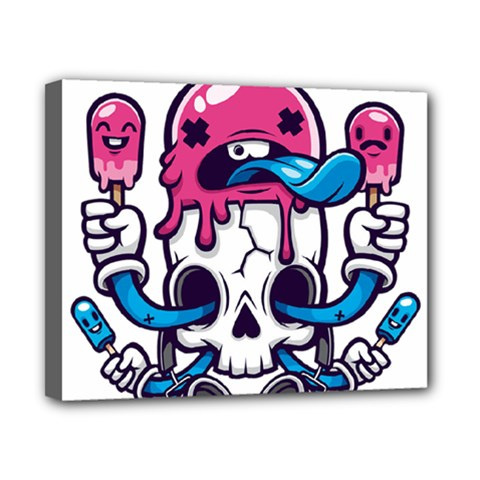 Ice Cream Skull Canvas 10  X 8