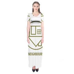 The Neighbourhood Logo Short Sleeve Maxi Dress