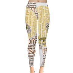 Panda Typography Leggings