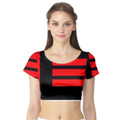 Master Slave Flag Short Sleeve Crop Top (tight Fit)