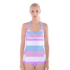 Big Boyleg Halter Swimsuit