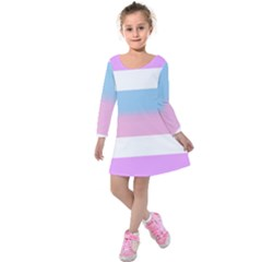 Big Kids  Long Sleeve Velvet Dress
