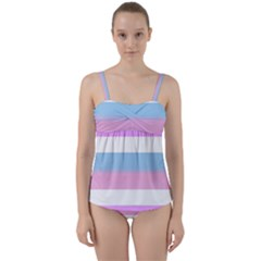 Big Twist Front Tankini Set