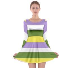 Bin Long Sleeve Skater Dress