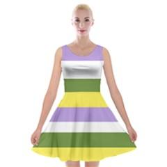 Bin Velvet Skater Dress
