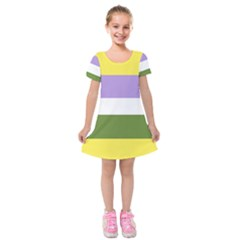 Bin Kids  Short Sleeve Velvet Dress