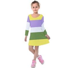 Bin Kids  Long Sleeve Velvet Dress