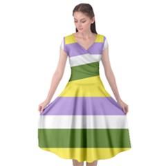 Bin Cap Sleeve Wrap Front Dress