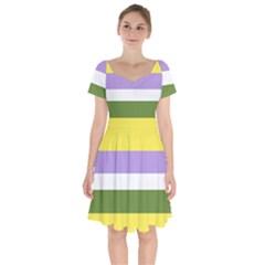 Bin Short Sleeve Bardot Dress