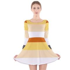 Brownz Long Sleeve Velvet Skater Dress