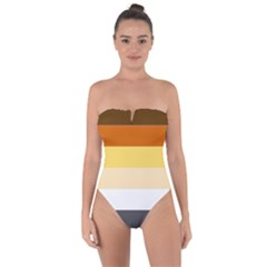 Brownz Tie Back One Piece Swimsuit