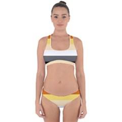 Brownz Cross Back Hipster Bikini Set