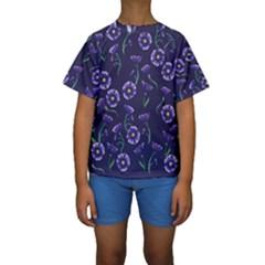 Floral Kids  Short Sleeve Swimwear