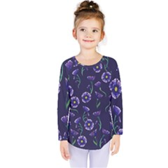 Floral Kids  Long Sleeve Tee