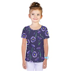 Floral Kids  One Piece Tee