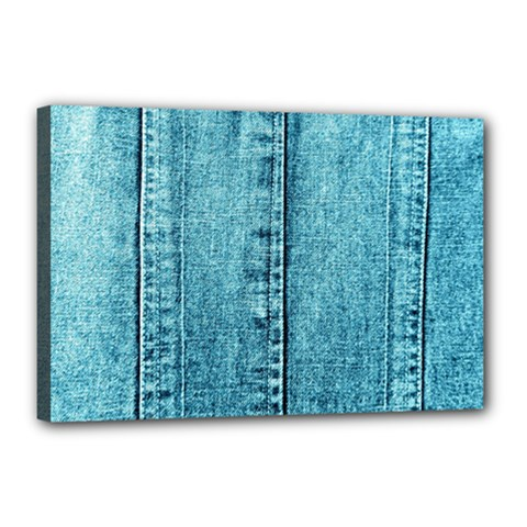 Denim Jeans Fabric Texture Canvas 18  X 12