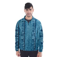 Denim Jeans Fabric Texture Wind Breaker (men)