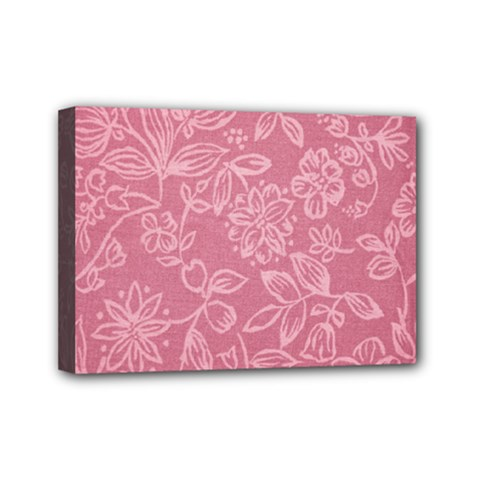 Floral Rose Flower Embroidery Pattern Mini Canvas 7  X 5