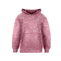 Floral Rose Flower Embroidery Pattern Kids  Pullover Hoodie