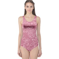 Floral Rose Flower Embroidery Pattern One Piece Swimsuit
