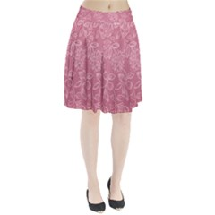Floral Rose Flower Embroidery Pattern Pleated Skirt