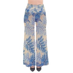 Fabric Embroidery Blue Texture Pants