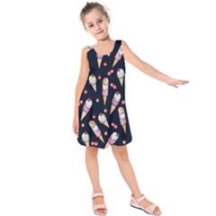 Ice Cream Lover Kids  Sleeveless Dress