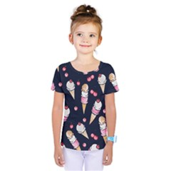 Ice Cream Lover Kids  One Piece Tee